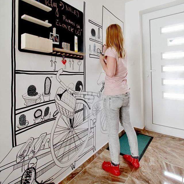 Kreslená zážitková stena 1