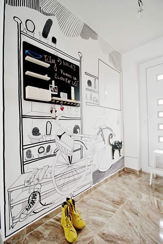Kreslená stena – Vstupná chodba Malinovo