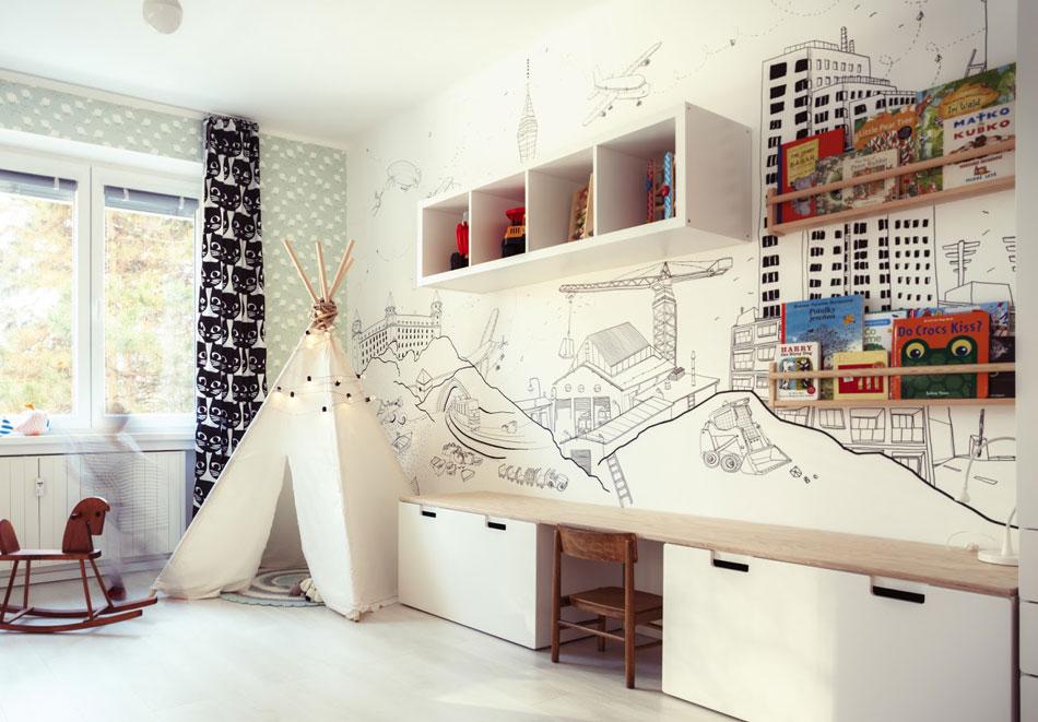 kreslenie na stenu