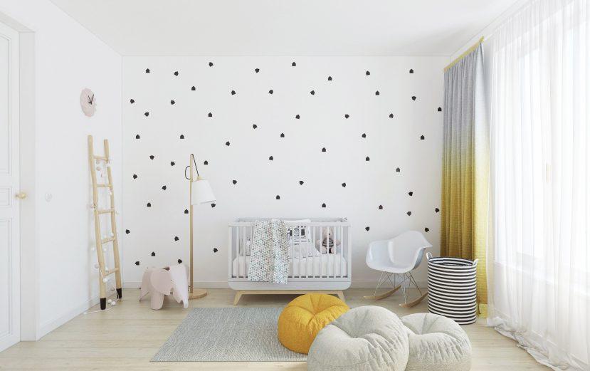 Nálepky na stenu rôzné tvary 2