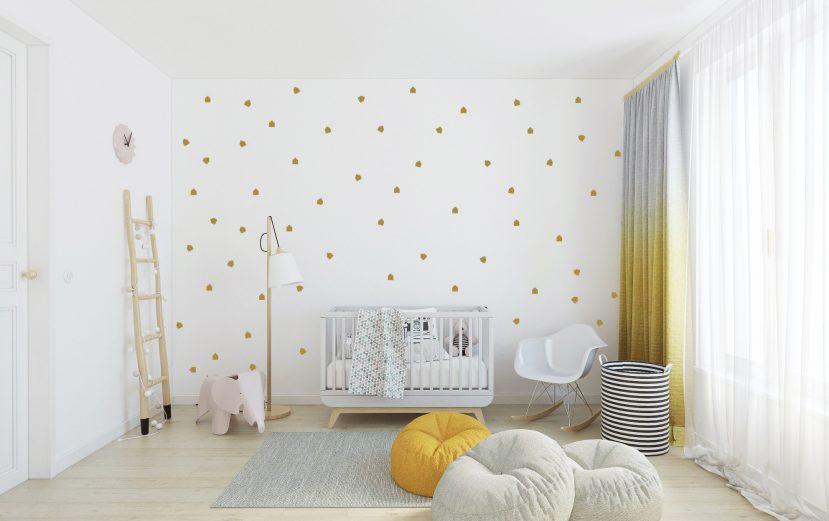 Nálepky na stenu rôzné tvary 1