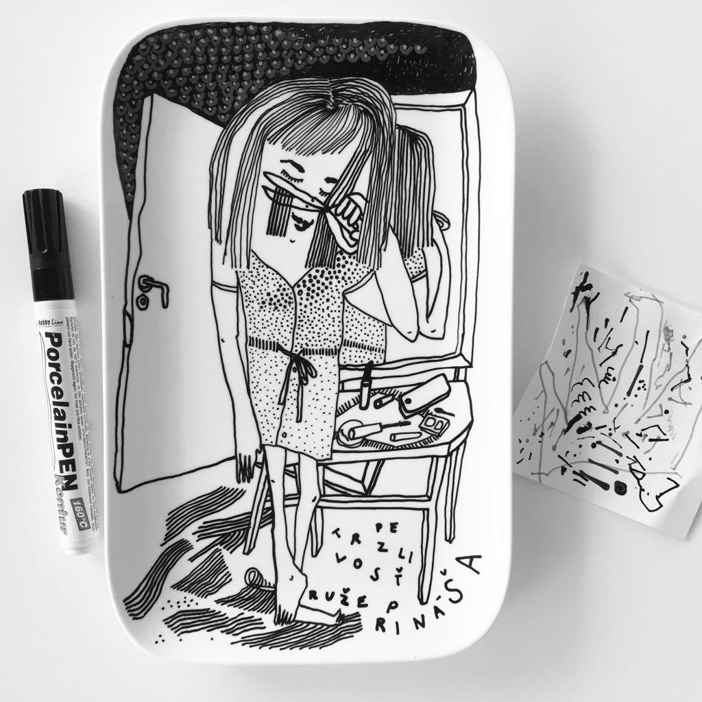 Zážitkový kreslený porcelán 62