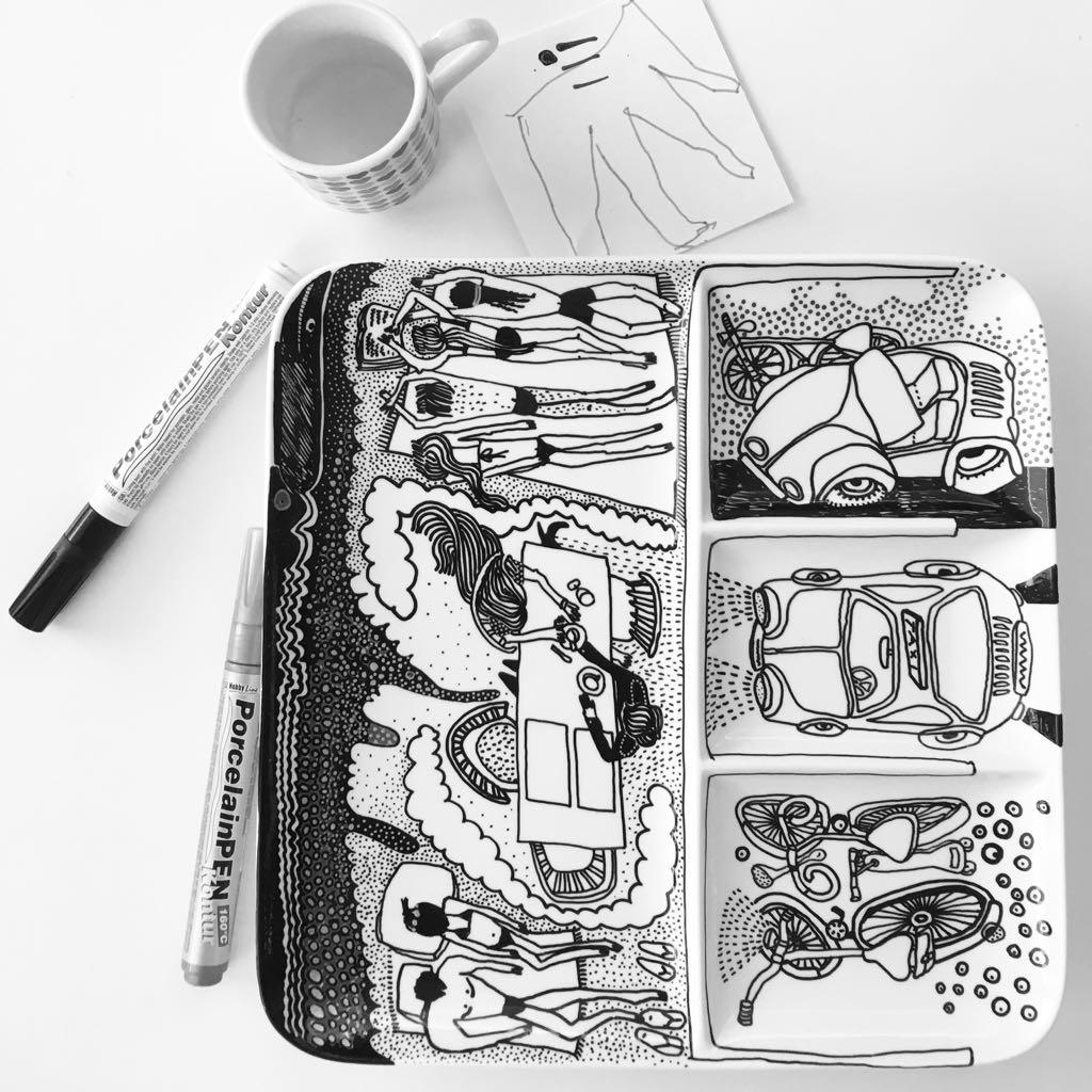 Zážitkový kreslený porcelán 63