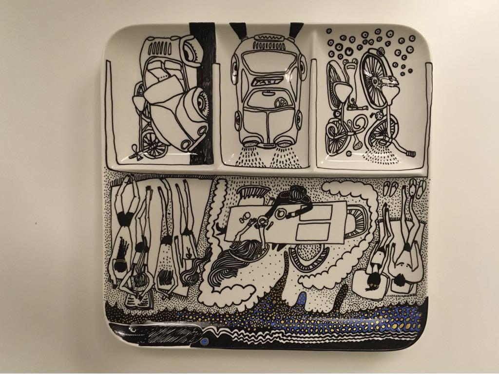 Zážitkový kreslený porcelán 64
