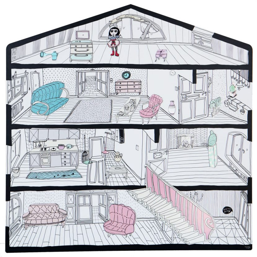 Magnetický domček / Magnetic board house 1