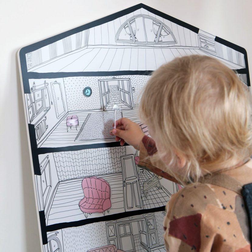 Magnetický domček / Magnetic board house 4