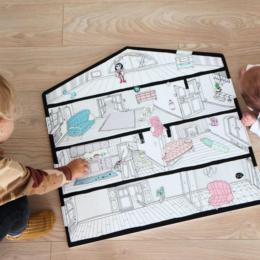 Magnetický domček / Magnetic board house 2