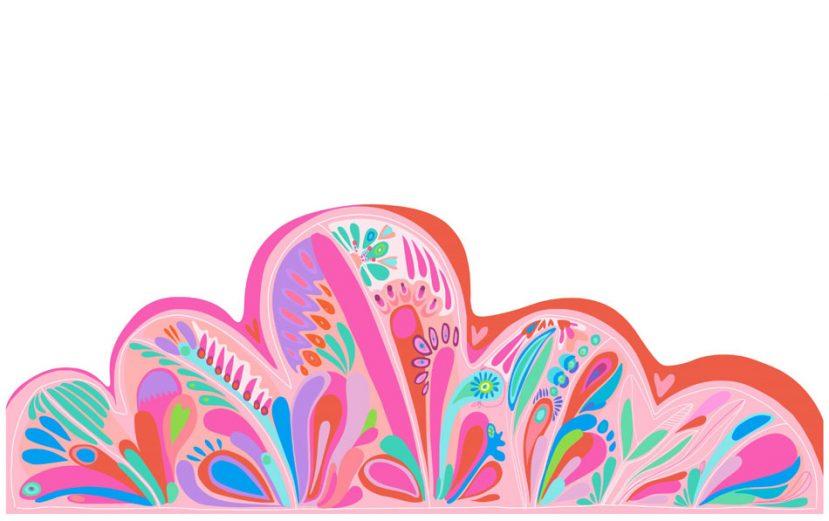 """Samolepka na stenu """"pink love"""" 2"""
