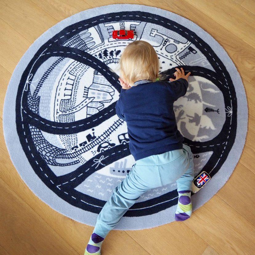 Nekonečná autodráha - detský koberec 1