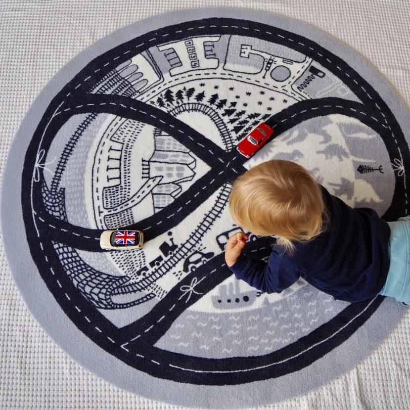 Nekonečná autodráha - detský koberec 2