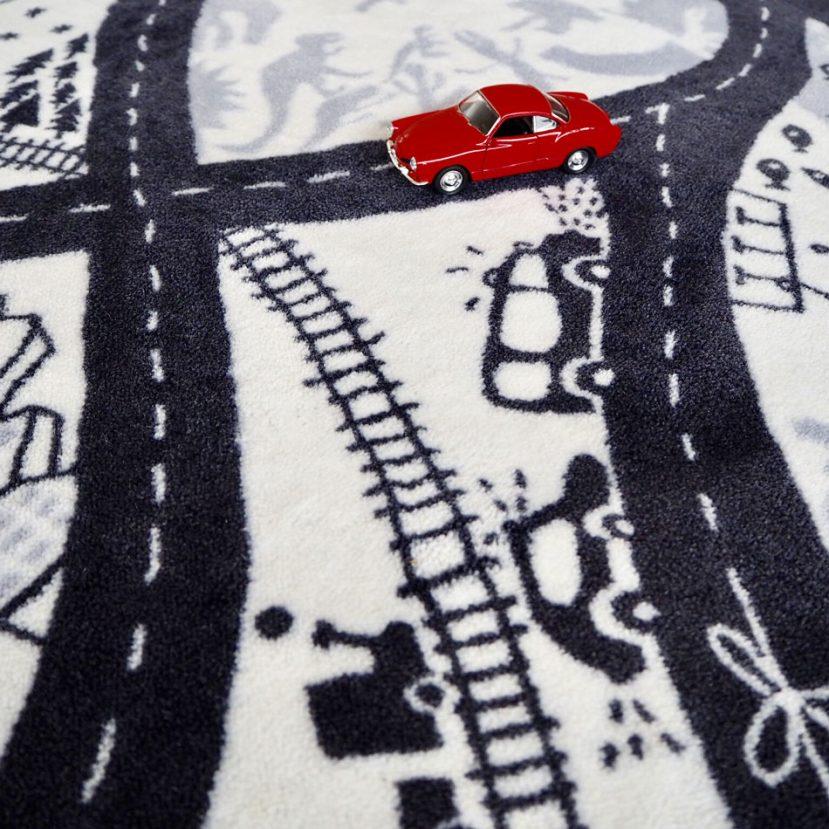 Nekonečná autodráha - detský koberec 5