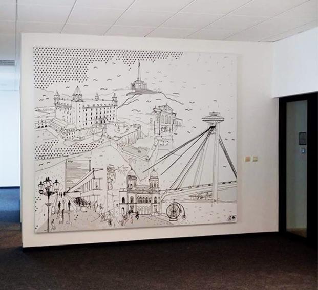 Illustrácia Bratislava a jej dominanty 40