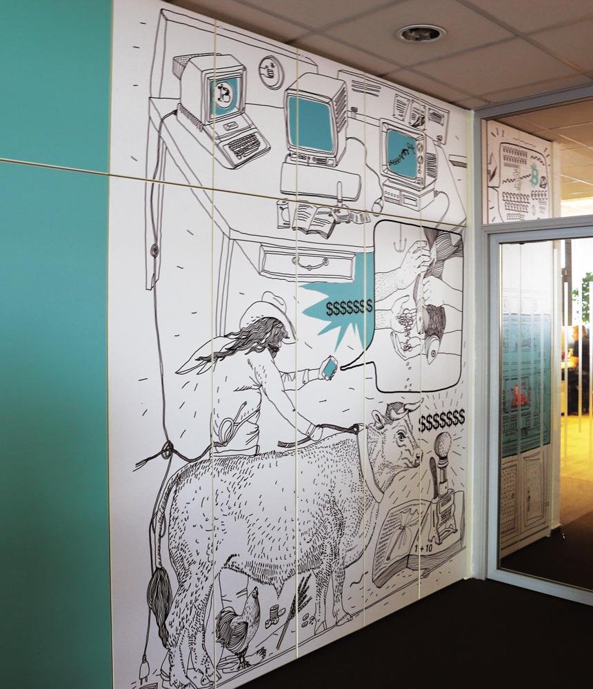 Séria ilustrácií v kancelárskych priestoroch 7