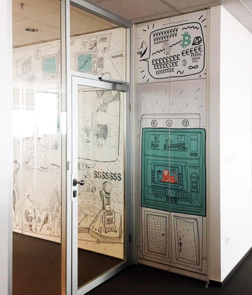 Séria ilustrácií v kancelárskych priestoroch 6