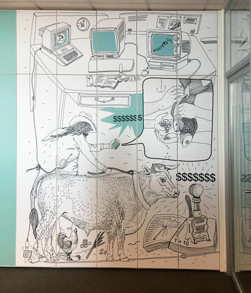 Séria ilustrácií v kancelárskych priestoroch 5