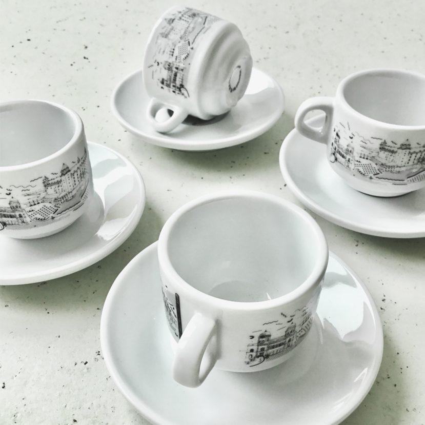 Ilustrácia Bratislavy - porcelánová šálka 4