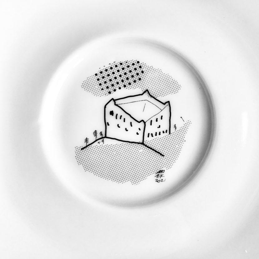 Ilustrácia Bratislavy - porcelánová šálka 2